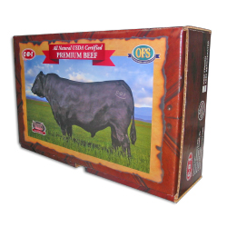 cow meat litho laminated retail box