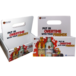 Bacardi litho laminated retail box