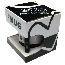 peace love world mug litho laminated retail box