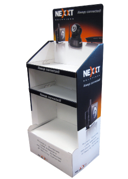 Nexxt Corrugated Floor Display