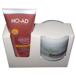 No-Ad sunscreen die cut corrugated protective packaging