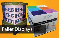 Custom Corrugated Pallet Displays