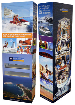 Royal Caribbean Corrugated Floor Display
