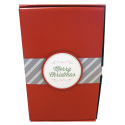christmas litho laminated retail box